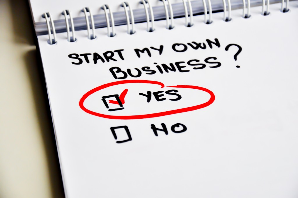 Start own business concept