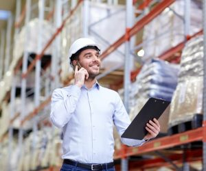 Man working at warehouse