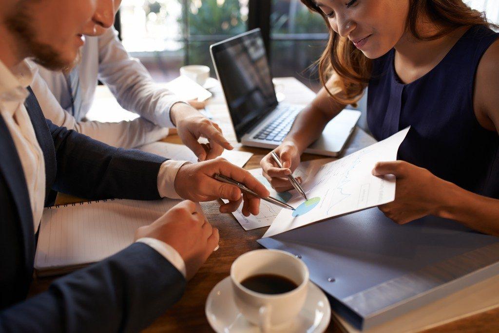 Entrepreneurs in a meeting