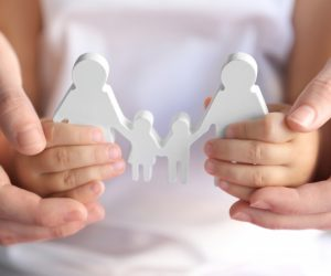 Holding a family model adoption concept