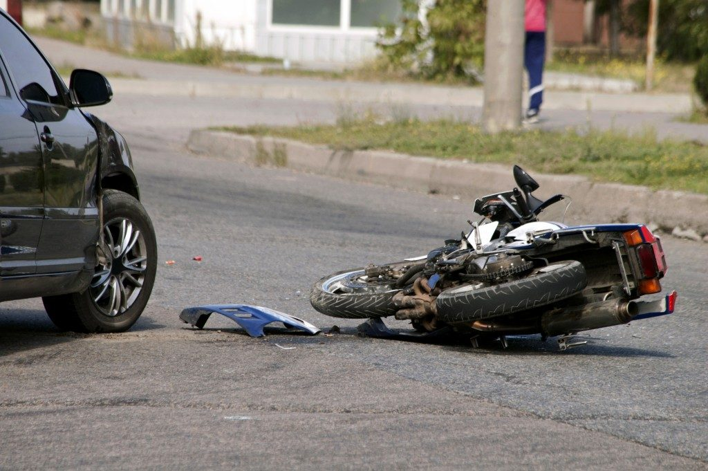 Car accident with a motorcycle