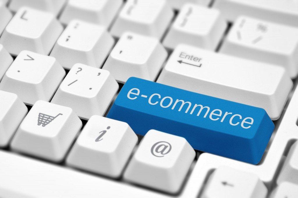 e-commerce on a keyboard