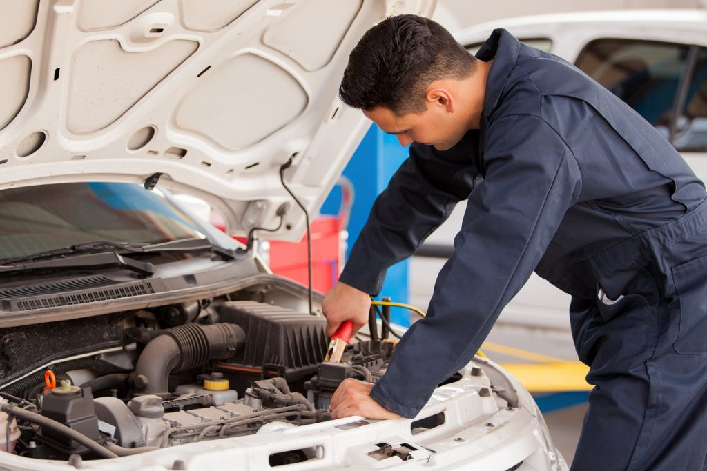 repairing car batteries