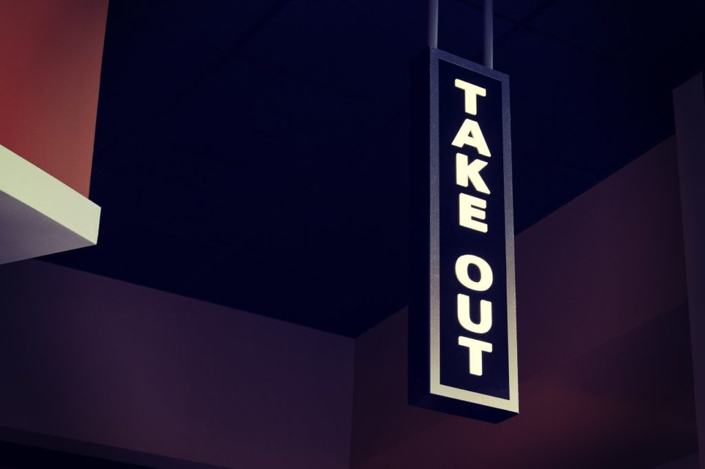 take out signage