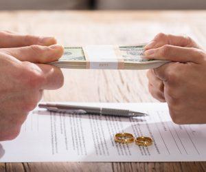 divorce money concept