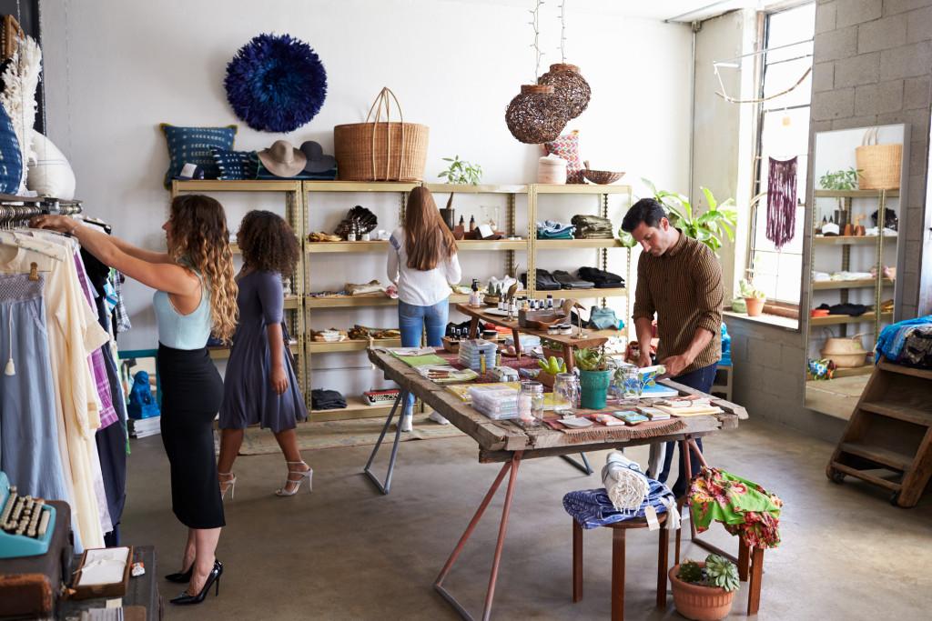 women at a boutique