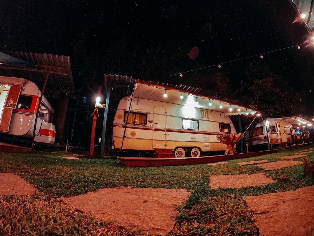 parked camper vans