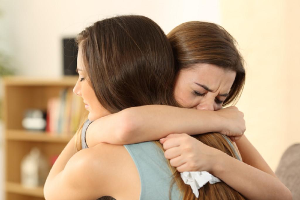 grieving family member