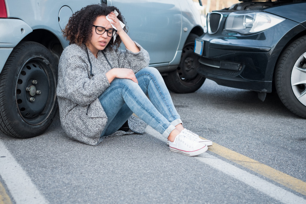 woman road accidents